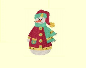 Frosty Friend 4 Snowman Machine Embroidery Design
