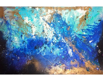 On the bottom , Original Canvas 36x24 inc , Abstract Painting, Wall Art, Abstract Art, Original Painting, Acrylic Painting, Wall Art