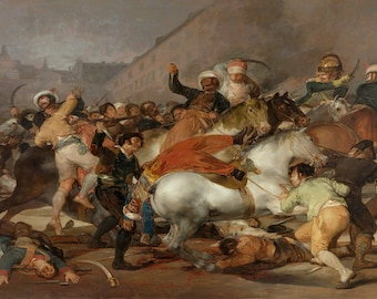 Francisco De Goya: The Second of May 1808 or The Charge of the Mamelukes. Fine Art Print/Poster (00596)