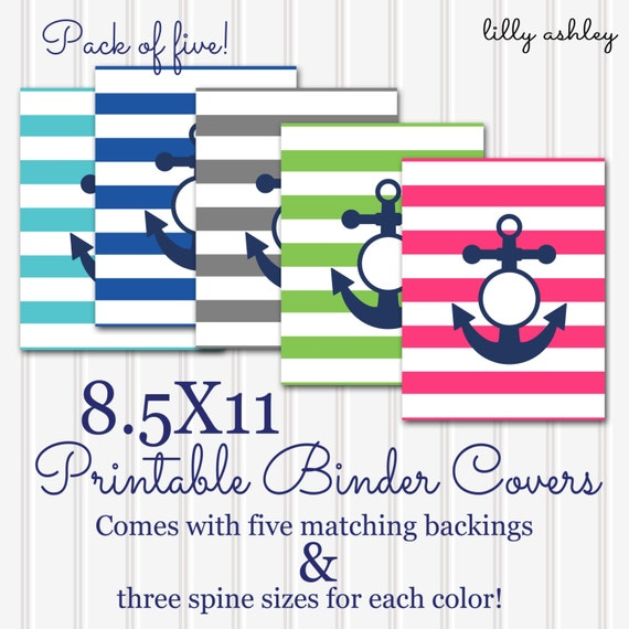 Printable Binder Covers SET 8.5X11-JPG Format Not