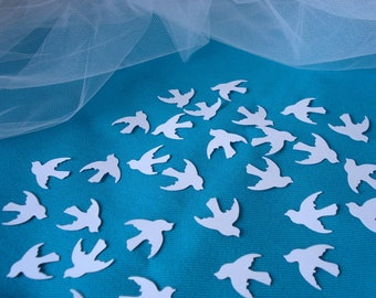 250 Hand Punched 1 inch White Dove confetti Wedding