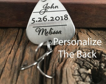 Personalized Name And Date Fishing Lure Gift Personalized Wedding Gift Anniversary Fishing Lure Gift for Engagement Lure Gift For Fisherman