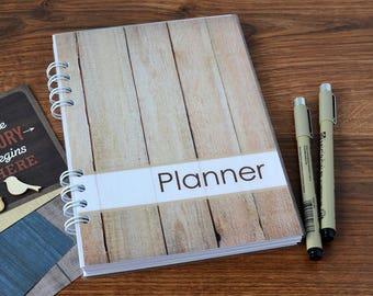 Personalized planner notebook 2018 2019 planner monthly weekly Undated planner To Do notebook calendar Agenda organizer Spiral planner book