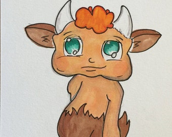 Lil' Satyr - Cute Greek Myth Illustration