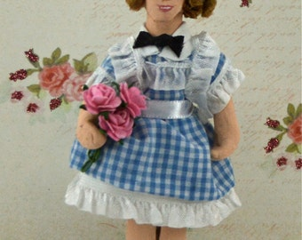 Shirley Temple Doll Miniature Art Character Old Hollywood Fan Art