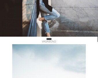 "Responsive Wordpress Theme ""Florentins"" // Photography Style Instant Digital Download Premade Blog Template Design"
