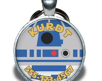 Pet ID Tag - Star Wars R2-D2 *Inspired* - Dog tag, Cat Tag, Pet Tag