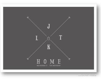 Postcard HOME (E.g. moving)