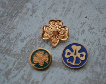 Vintage Collectible Girl Scouts Pins Pinbacks Lot of 3