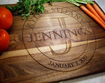Personalized Cutting Board - Wedding Gift - Engagement - Gifts for Mom - Custom Cutting Board - Personalized Kitchen - Kitchen Gift - Fiance