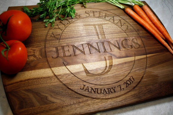 Wedding Gift For Fiance: Personalized Cutting Board Wedding Gift Engagement Gifts