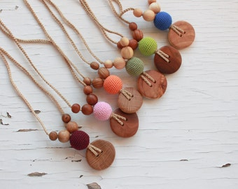 Best Seller Nursing Necklace / Teething Necklace for mom - Etno Mama Babywearing Jewelry