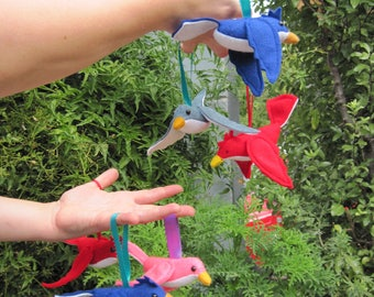 Songbird Feltie - Handmade Bird Plush Ornament