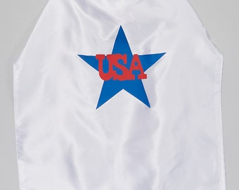 USA Patriotic Superhero Cape with star and USA Very Fast SHIPPING