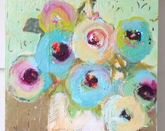 Abstract Florals Original Painting