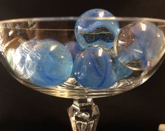 Blue CatsEye Glass Marbles