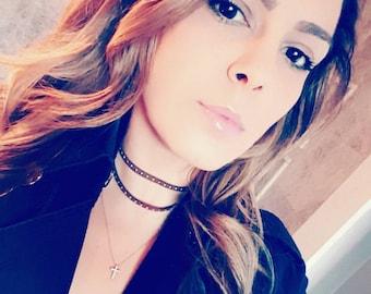 Studded Faux Leather choker Choker necklace