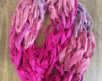 Sari silk infinity scarf