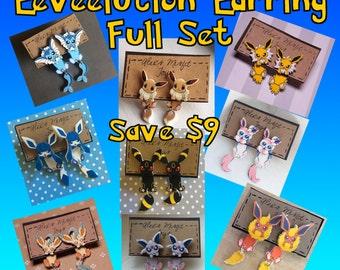 Eeveelution Faux Fauge Clinging Earrings Earrings Full Set - Save Money!
