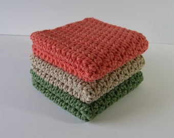 Crochet Dishcloths, Crochet Dishcloth Set, Dish Cloth, Crochet Dishrags, Cotton Dishcloth, Crochet Washcloths, Mother's Day, Housewarming
