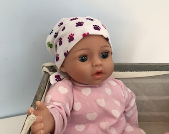 Shiri Children's Doll Head Scarf - Matching Doll Hat To Our Mia Scarf, Hat, Head Cover, Cancer, Chemo, Alopecia, Hair Loss, Rainbow Paws