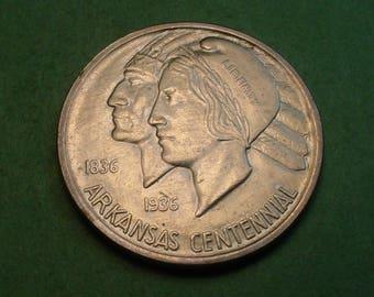 1936 Arkansas Commemorative Half Dollar AU   / insurance included in SH  <>ET5251