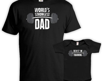 Matching Father And Baby Father Son Matching Shirts Dad And Daughter Gifts  World s Strongest Dad Beast eb42186df92