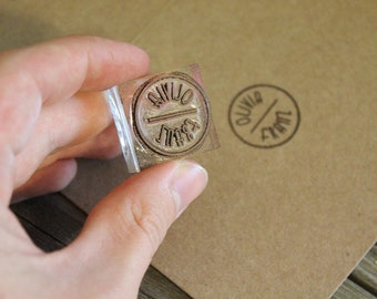 "Custom Rubber Stamp (Just under  1"" x 1"" )"