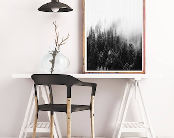 Forest Print, Forest Photography, Black and White, Nature Prints, Forest Wall Art, Forest Art, Wilderness Poster, Woodland Print, Modern Art