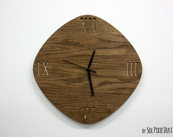 Wooden Simply Rhombus  - Wood Wall Clock