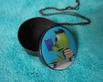 Monsters University Disney Pixar  inspired  Mike necklace box