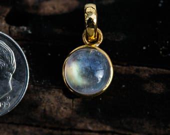 Moonstone 14k gold Pendant - 14k Gold Moonstone Necklace - Moonstone Pendant - Rainbow Moonstone Gold Pendant - Rainbow Moonstone Gold 14k