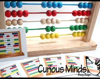 CARDS ONLY -  Abacus Pattern Cards - Educational, Montessori, OT - Learning Toy, Toddler Toy, Learning Game, Educational