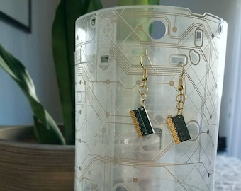 RAM Circuit Board Earrings
