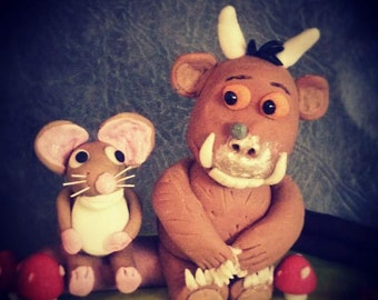 The Gruffalo and mouse cake topper