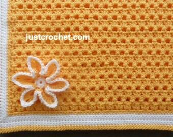 Crib Blanket Baby Crochet Pattern (DOWNLOAD) FJC57