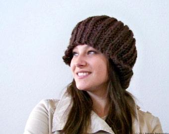 Knit Hat Pattern Knitting Pattern Hat Knit Beret Pattern Knitting Patterns Slouchy Beanie Pattern Chunky Knit Hat Pattern Winter Hat Pattern