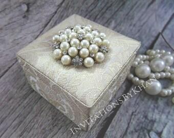 Brocade Silk Luxury Elegant Custom Party Favor Box