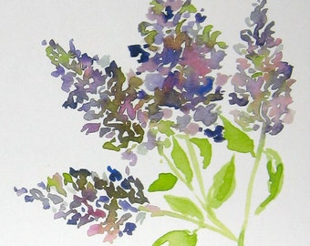 Lilac Fine Art Print, Watercolor Print, Home Decor, Gift Idea, Floral Print