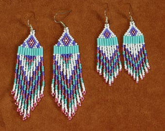 Girls just want to have fun Native Inspired beaded earrings