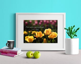 QUOTE PRINT DOWNLOAD | Eye Catching | Sunlight Shadows | Beautiful Contrasts | Utah Garden | Motivate Wall Decor | 5x7 8x10 11x14 16x20 Pack