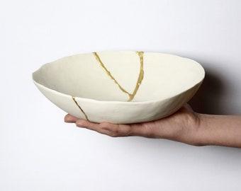 handmade porcelain kintsugi bowl