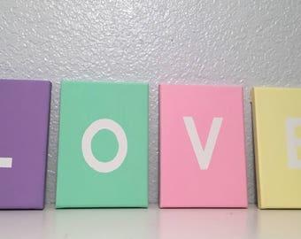 Pastel Love Sign