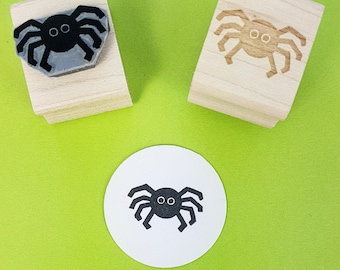 Mini Cute Spider Rubber stamp - Halloween Stamper - Spooky Stamp - Gift for Boys - Nature Lover - Bug Lover - Creepy Crawlies - Arachnid