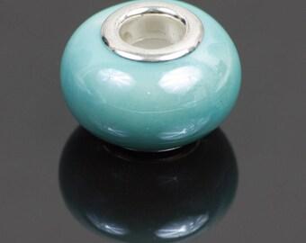 European style turquoise ceramic beads