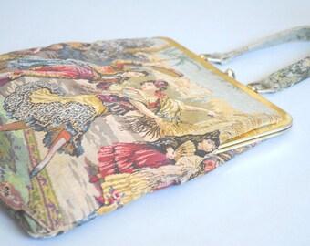 Marbella tapestry handbag | 1960s tapestry handbag | 60s handbag