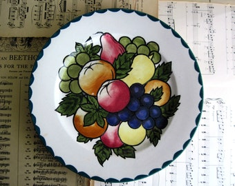 Britannia Pottery, Antique Scottish Plate, Decorated Plate, Vintage Pottery, Earthenware Plate, Vintage Plates, Vintage Ceramics, 1920