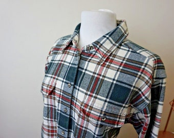 Vintage St Michael Women's Lumberjack Cotton Shirt UK Size 16