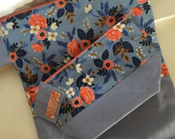 Rifle Paper Co Periwinkle Zippy Bag And Swimmy Bag Set