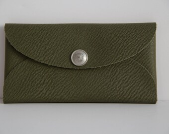 Handmade Genuine Leather Clutch, Iphone Case, Wallet, Handmade, One of a Kind, Free Shipping